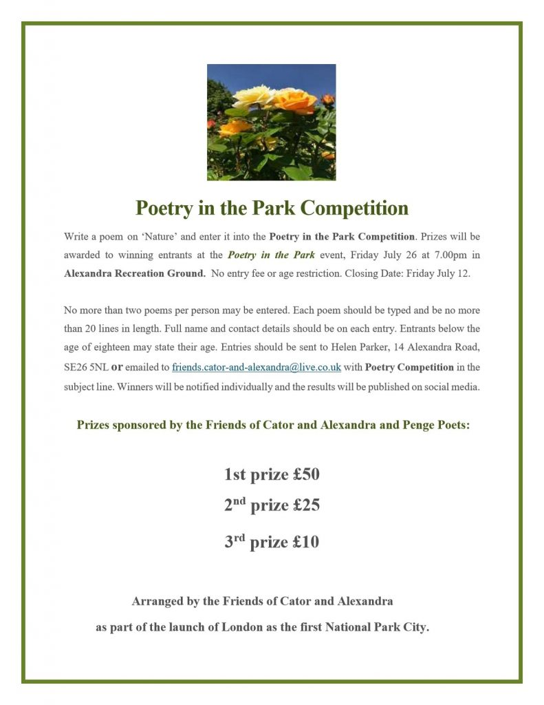 Poetry in the Park Competition